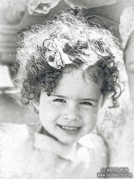 Shirley Temple Reenactor    Black & White Photography by Wayne Heim