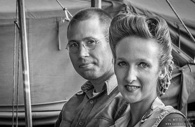 Reenactor Couple     Black & White Photography by Wayne Heim