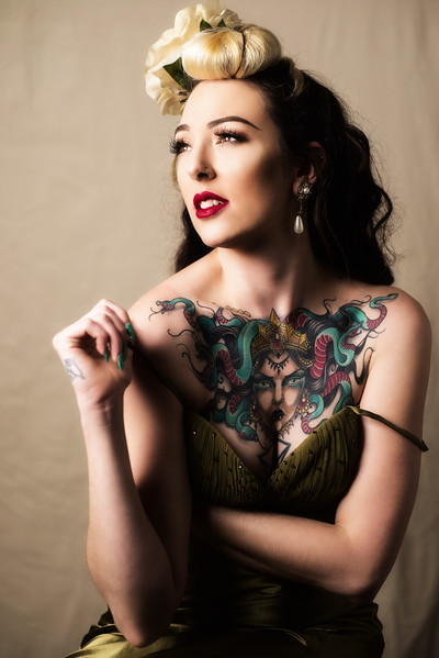 Teaser shot from our amazing Classic Glamour Portrait session with @opheliapoptart !  Booking now for February, check out the website for details!