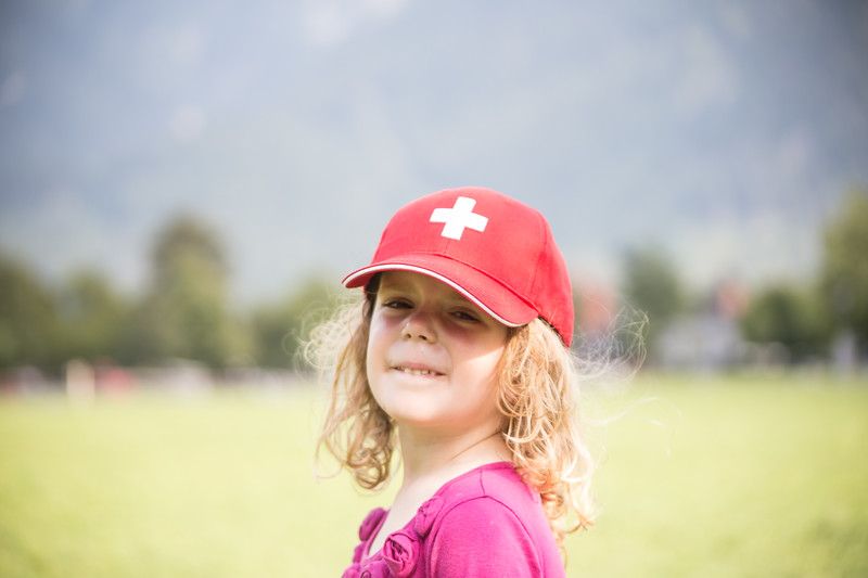Girl with a new cap