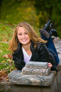 Outside senior portrait