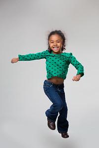 Playful little girl's photo