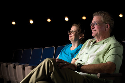 Terry and his wife at the movies.