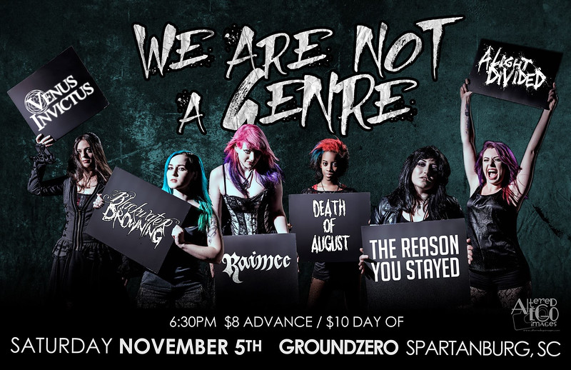 We Are Not A Genre Show Flyer