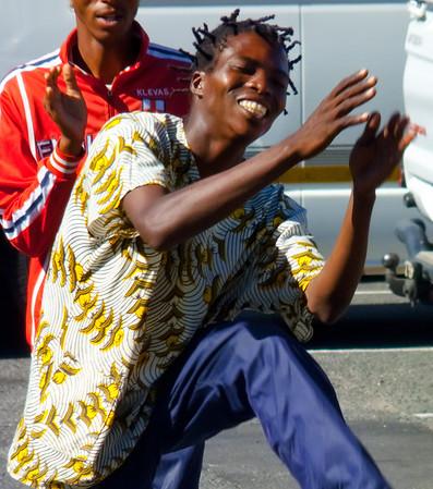 South African street dancer