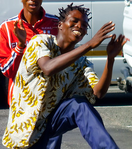 South African street dancer