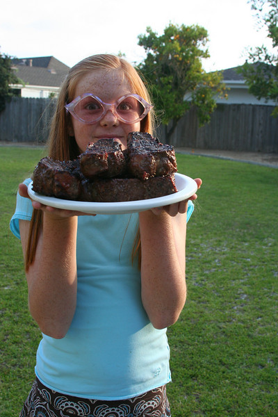 goofy glasses with steaks
