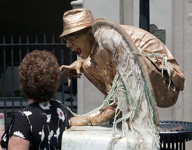 New Orleans street performer