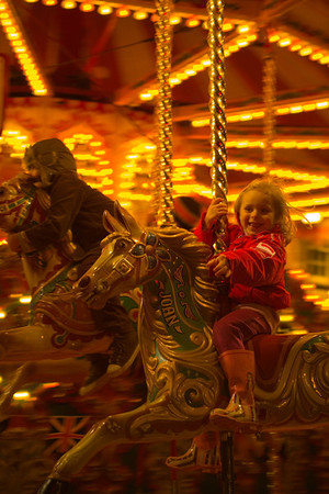 Children on Carousel.
