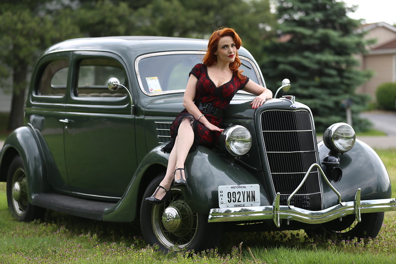 Pinup model Ginger Watson.
