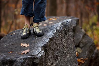 Rock Climbing at Rumbling Bald, Lake Lure, North Carolina
