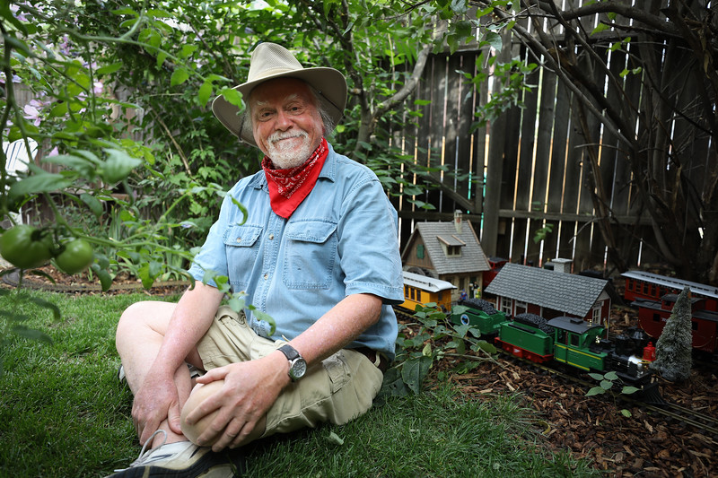 Washington Park resident Rich Grant used his free time during the COVID-19 pandemic to built a train set in his backyard. Emily Maxwell | I Am Denver (IAmDenver.org)