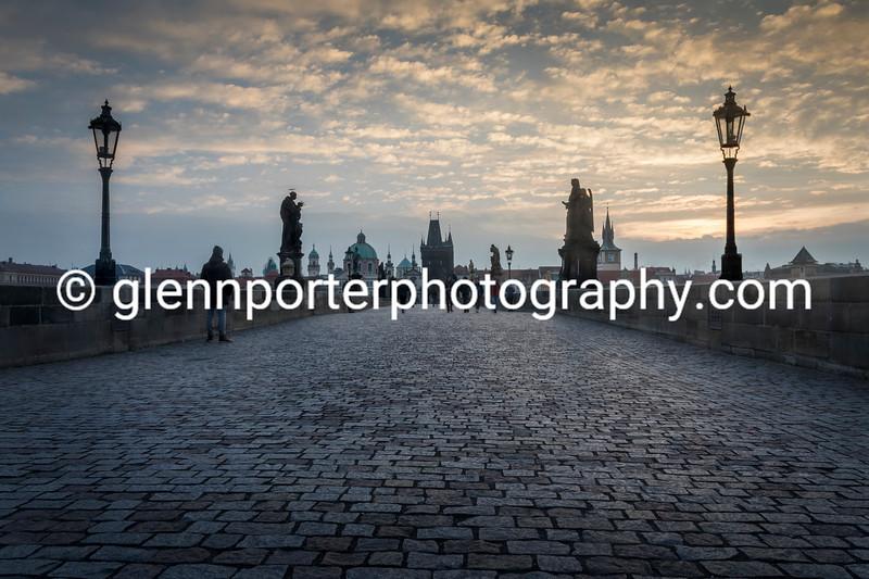 Early morning Charles Bridge, Prague.