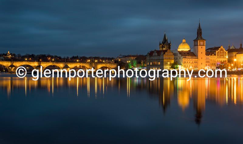 Charles Bridge and Smetana Museum, Prague.