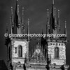 Church of Our Lady before Tyn, Old Town Square, Prague. Mono