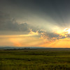 Sunrays Over Alberta Foothills