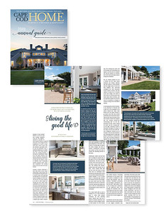 Photography for Good Life New England (home design) featured in article for Cape Cod Home Magazine.