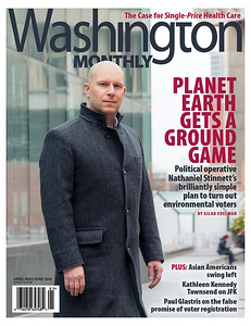 Cover and feature photography for Washington Monthly magazine.