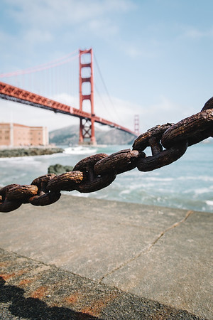 Golden Gate Bridge with Chain in Foreground California USA Jacque Manaugh Photography 2:3