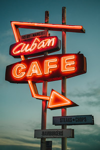 Cuban Cafe Neon Sign Cuba New Mexico 2019 Jacque Manaugh-