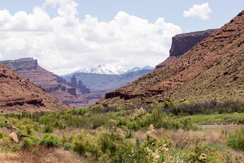 Moab Utah Snowcap Mountain