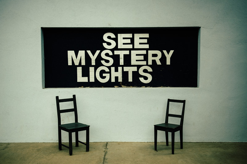 See Mystery Lights Sign Marfa Texas 2019-2