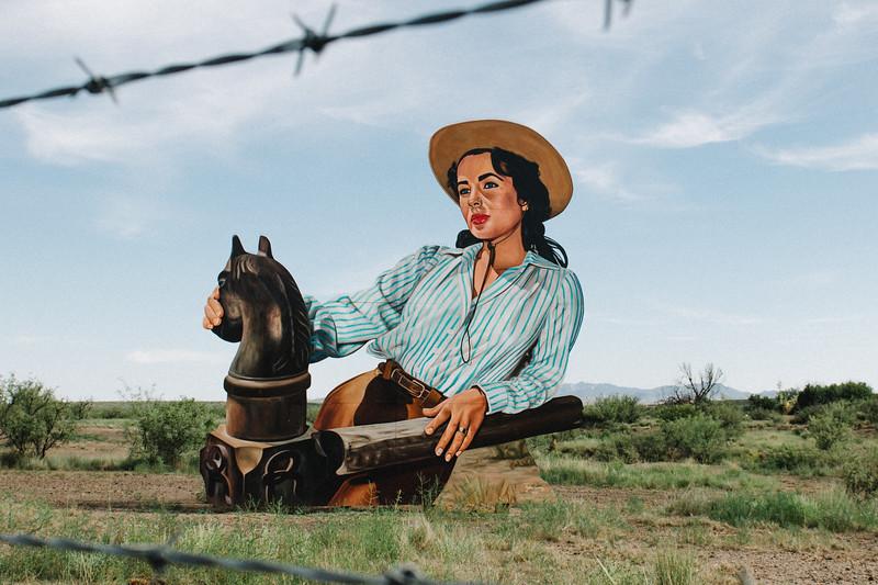Giant Movie Art Installation Marfa Texas 2019-2