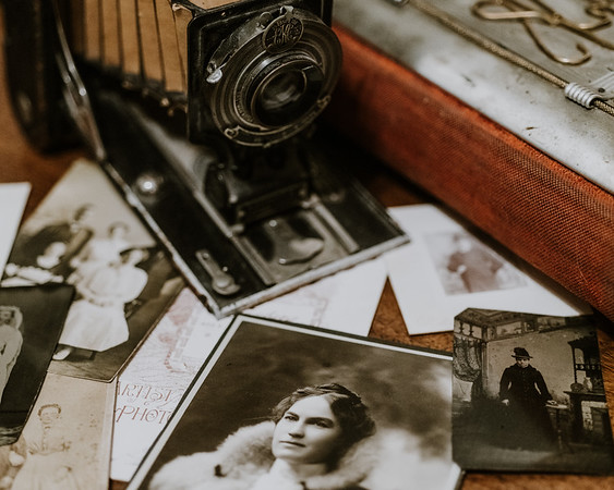 Antique Camera and Prints