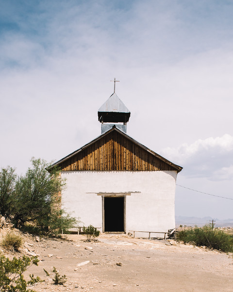 St Agnes Church Exterior Terlingua Texas--St Agnes Church Exterior Terlingua Texas by Jacque Manaugh