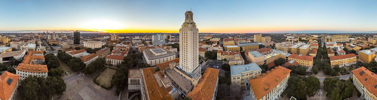 Hook Em'!! - The UT Tower ( 360° Aerial Panoramic)