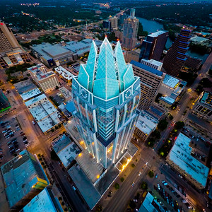 The Frost Bank Tower in Downtown Austin