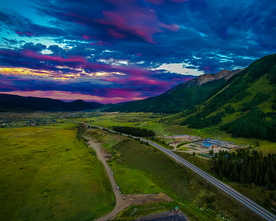 The Road into Crested Butte, CO