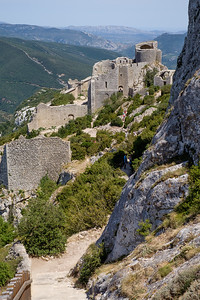A week's holiday based at St Nazaire near Perpignan, in southern France.  The Cathar castle at Peyrepertuse on Wednesday 15 July 2015.