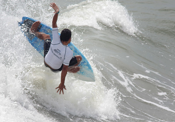 Anthonny Flores from Costa Rica competes in the Mens Pro Heat