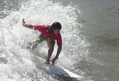 Jairo Perez, winner of the event, from Costa Rica competes in the Mens Pro Heat.