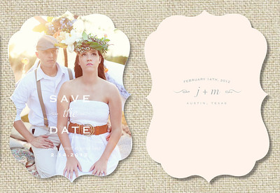 Save the Date Boutique Card