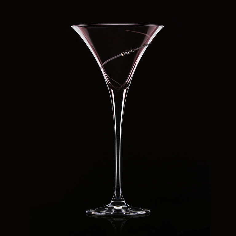 Martini glass on black