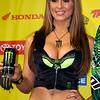 Monster Energy Drink Girl Atlanta AMA Supercross Georgia Dome winner's podium