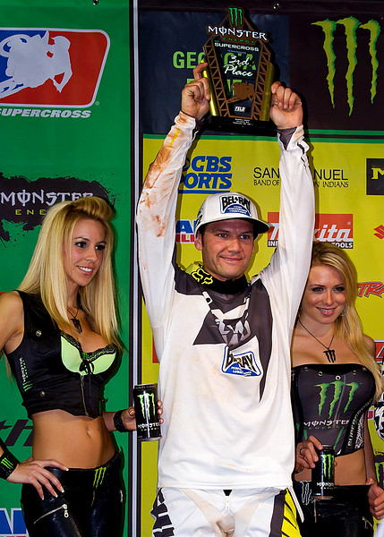 Chad Reed 3rd Place AMA Supercross Atlanta after controversial contact with James Stewart
