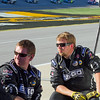 Hornaday Team Members patiently rest between pit stops at Talladega.