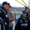 """Hornaday Team watches as Ron fights to the front prior to the """"Big One"""" at Talladega's Mountain Dew 250."""