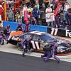 FedEx racing #11 Monte Carlo SS tire change on pit road Talladega