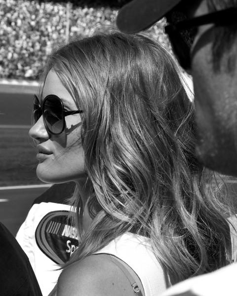 Transformers 3 Dark of the Moon star Rosie Huntington-Whiteley at the 2011 Daytona 500