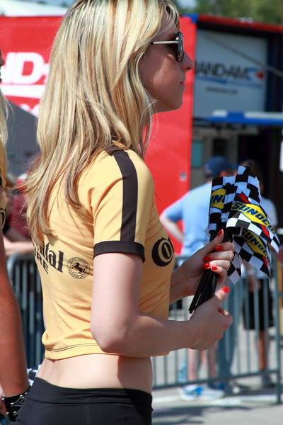 Continental Tire Racing Challenge Girl Distributes Sunoco Flags 2012 Victory Lane Barber Motorsports Park