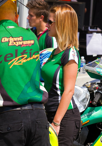 Celtic Racing AMA SportBike and SuperBike racing teams prior to racing at Barber Motorsports Park.