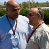 Charles Barkley and Hoover Mayor Petelos at Indy Grand Prix of Alabama at Barber Motorsports Park