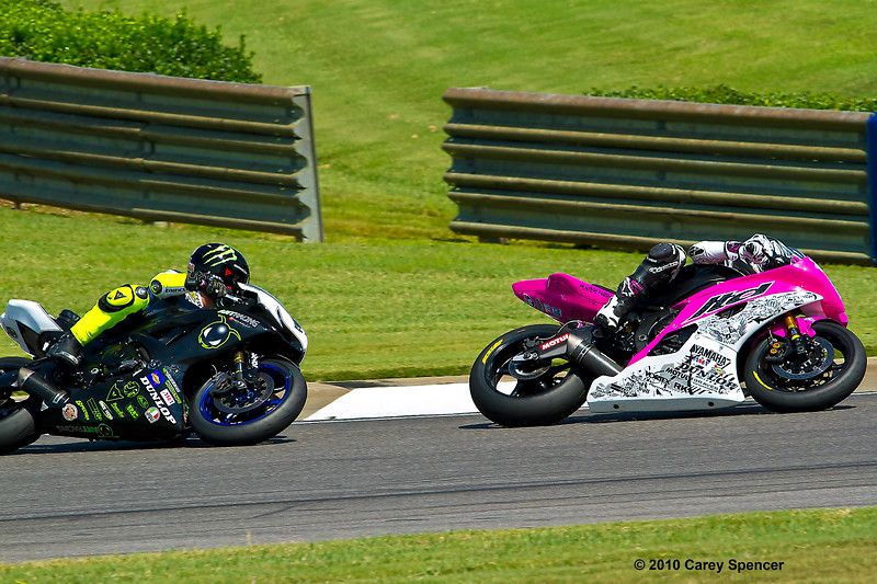 AMA Pro Racer Huntley Nash leads ANT Racing's James Rispoli