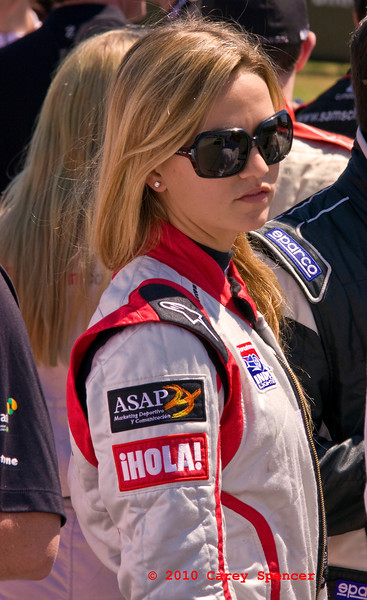 Alcoy Spain's Carmen Jorda races for Anderson Racing in the Firesone Indy Light Series