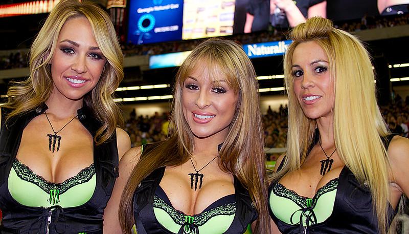 Monster Energy Drink Girls Atlanta AMA Supercross