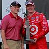 Scott Dixon celebrates a 2nd place finish in the Honda Indy Grand Prix of Alabama at Barber Motorsports Park